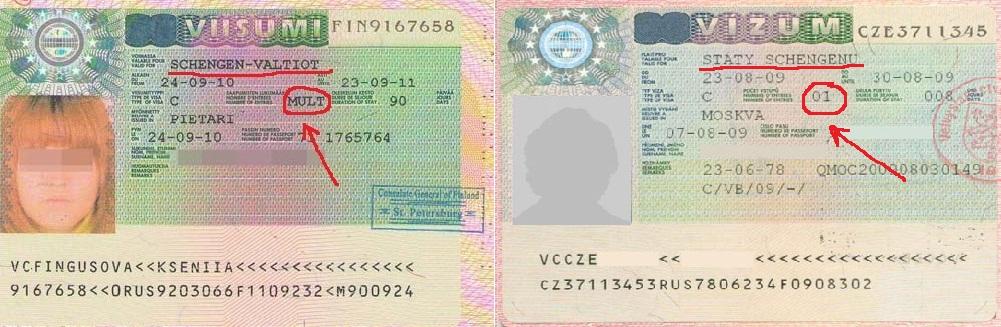 одноразовая виза